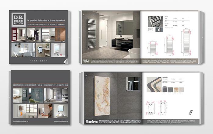 catalogue DB Distribution : sèche-serviettes et radiateurs