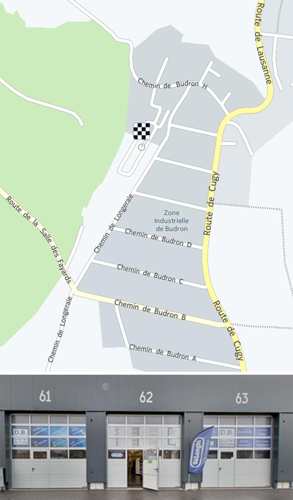 Carte DB Distribution Mont-sur-Lausanne
