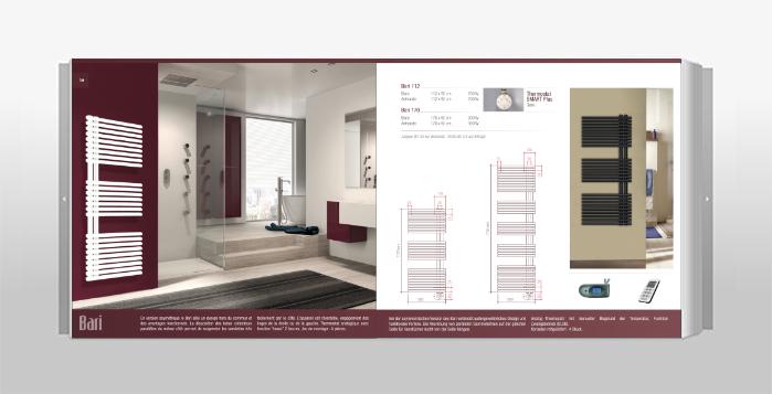 radiateur sèche-serviette électrique Db distribution, modèle Bari